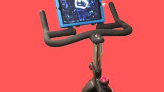 sunny spin bike with ipad