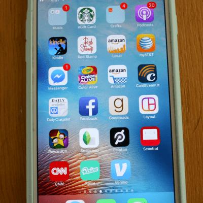 Venmo app on iPhone