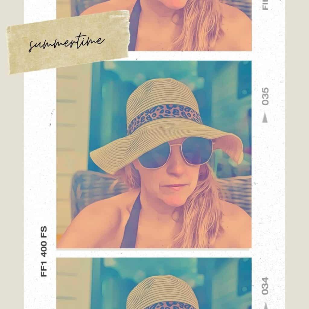 woman big hat and sunglasses