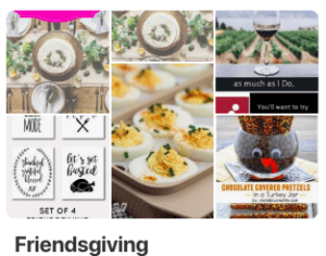 Friendsgiving Pinterest Board