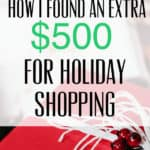 How I Made 500 Dollars for Holiday Shopping