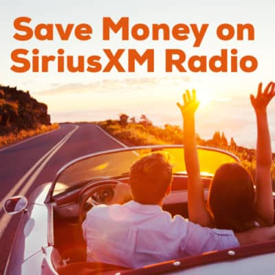save money on listening to sirius radio in the car