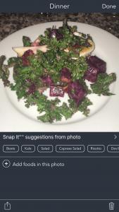 Snap It Photo Food Journal Kale Salad