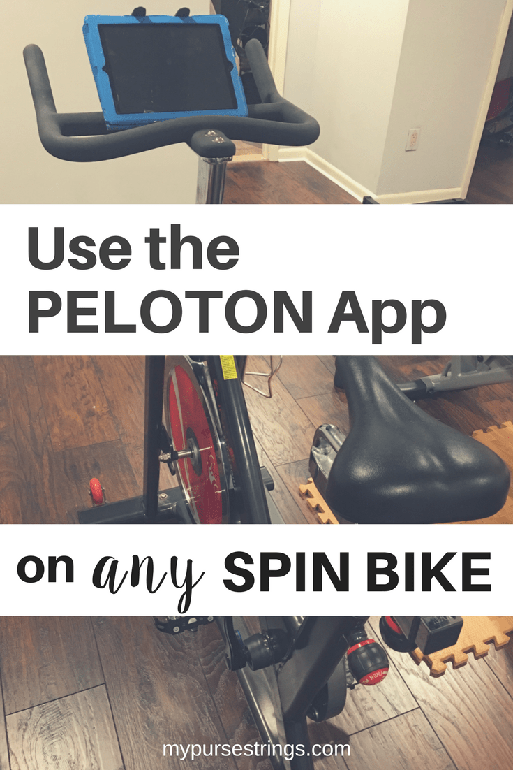 You've seen the commercials for the Peloton. Did you know you can use the Peloton App with any spin bike? Learn everything you need to know, including accessories, classes, and tips. #Peloton #pelotonapp #spinning #fitness #homegym #workout