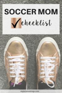 soccer mom checklist