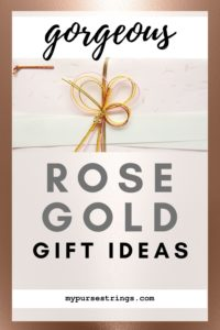 gorgeous rose gold gift ideas for her