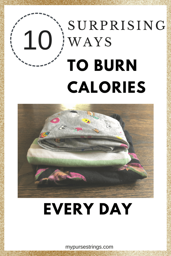 Wondering how many calories you burn throughout the day? From household chores to playing with your kids, see how you can burn extra calories throughout the day #fitmom #weightloss #fitness