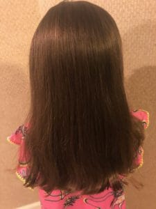 Revlon straightened girl's hair