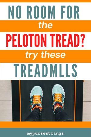 no room for the peloton tread running shoes on treadmill