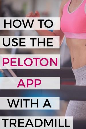 running on a treadmill using the peloton app digital