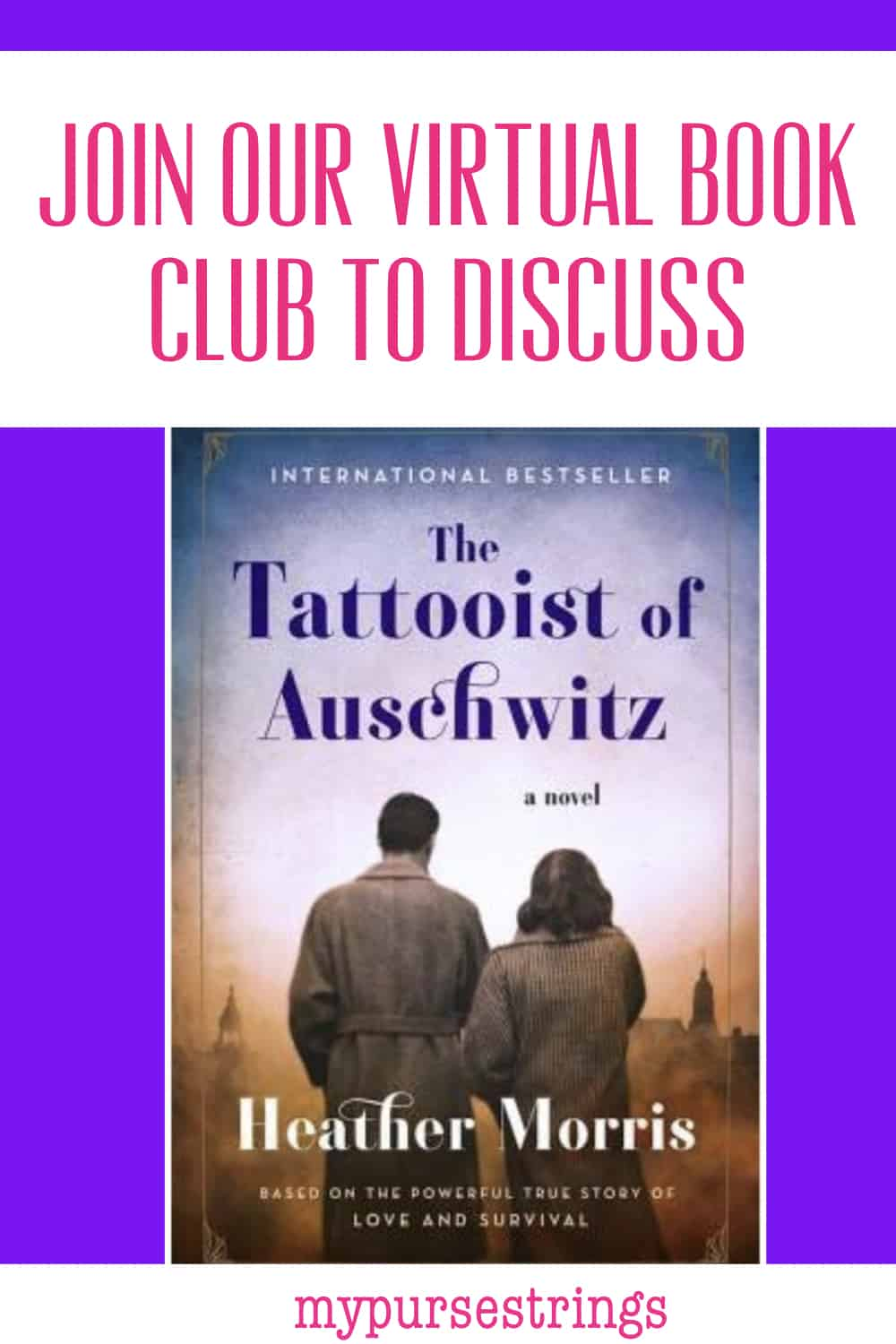 Join Our Virtual Book Club Tattooist of Auschwitz Pinterest