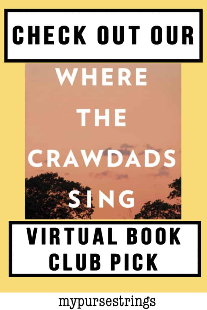 Where the Crawdads Sing Virtual Book Club Pinterest