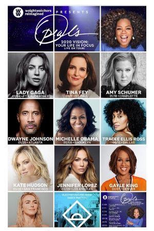 Oprah 2020 vision tour guest photos