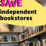 independent bookstore shelves how to save bookshops