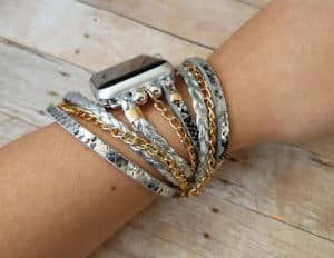 boho braided chain apple watch band