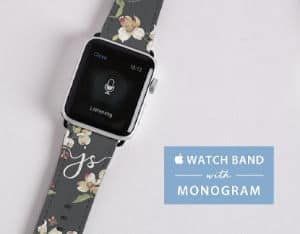 monogram flower apple watch band