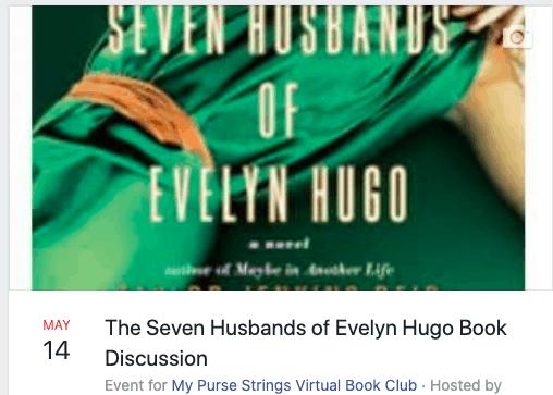 facebook event the seven husbands of evelyn hugo