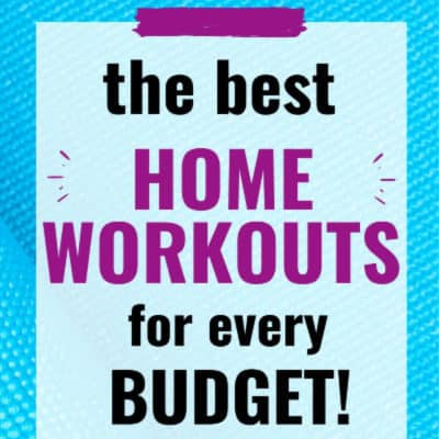 blue background home workouts