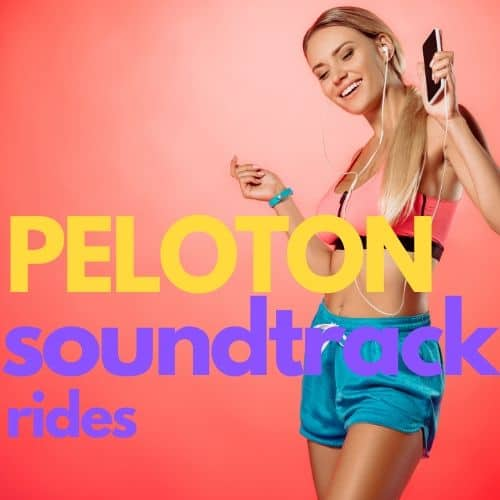 girl playing iphone music peloton