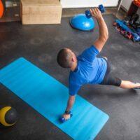 man workout mat