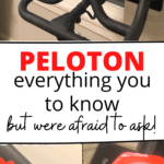 Peloton screen and knob