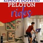 man riding Peloton